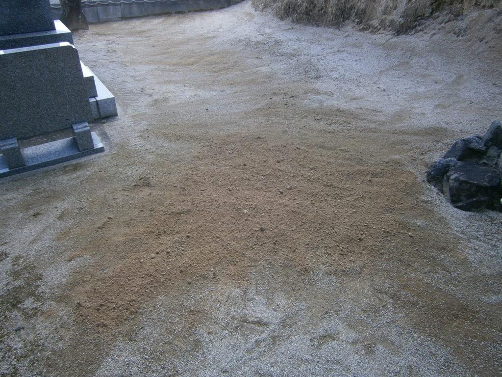 2015年1月施工 広島県廿日市市 N様 8寸3重台 墓じまい