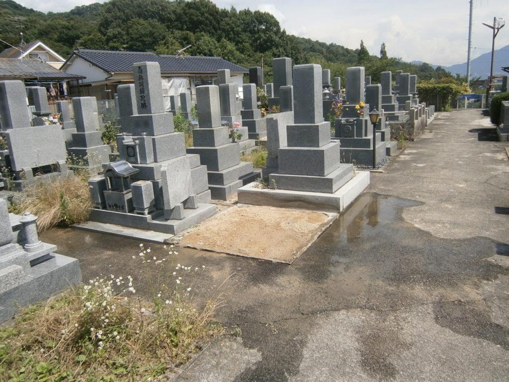 2015年6月施工 広島県安芸郡 S様 10寸3重台 墓じまい