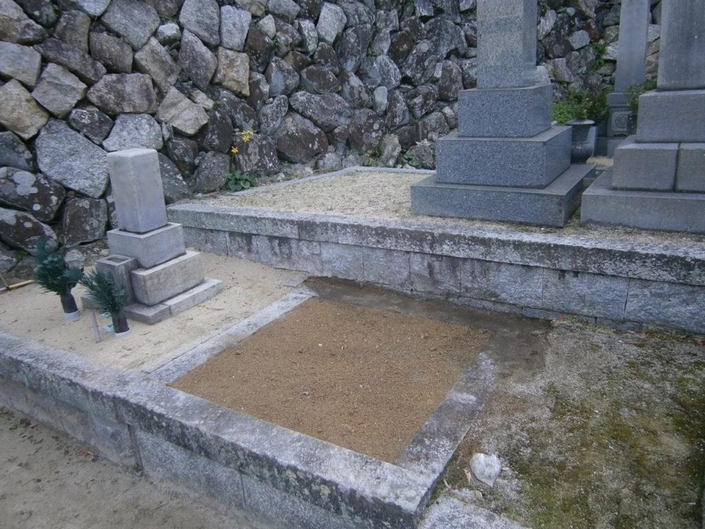 2016年12月施工 山口県岩国市 K様 8寸5重台 墓じまいの施工事例