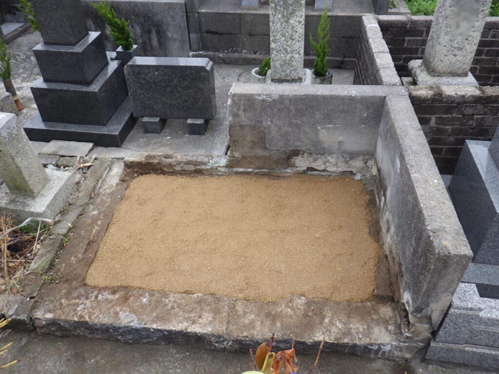 2018年3月施工 山口県下関市 O様 8寸3重台+8寸1重台+ブロック塀 墓じまい