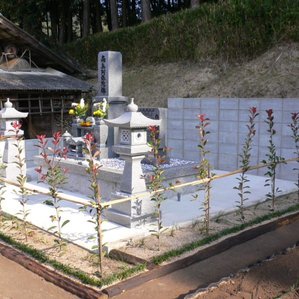 2009年10月施工 広島県広島市安佐北区Y様 造成 + 9寸墓石セット お墓の建立