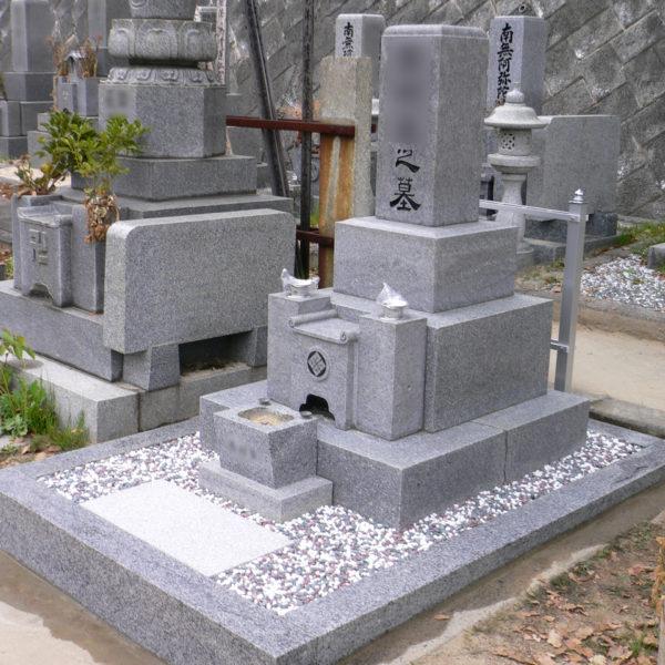 2009年4月施工 広島県広島市西区Y様 お墓のリフォーム 新規巻石+クリーニング