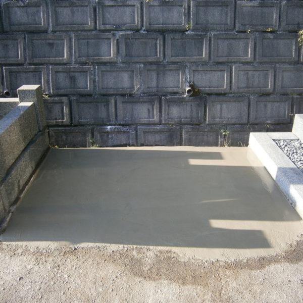 2016年12月施工 広島県広島市東区 H様 9寸3重台 + 墓誌 + 巻石 墓じまい