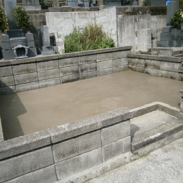 2015年3月施工 愛媛県松山市 Y様 9寸3重台 墓じまい