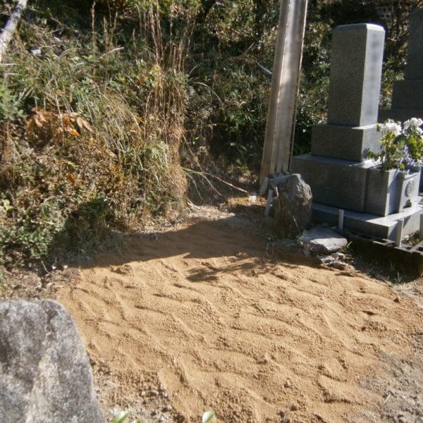 2016年9月施工 広島県広島市中区 N様 8寸3重台 墓じまい