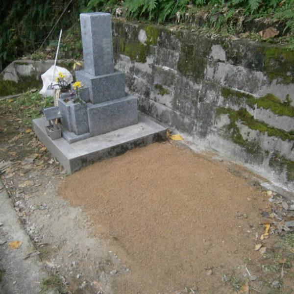 2016年11月施工 広島県広島市西区 W様 8寸3重台 + 巻石 墓じまい