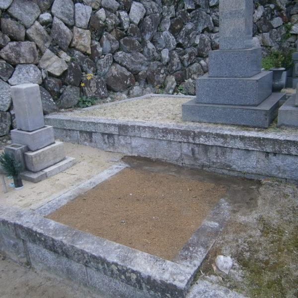 2016年12月施工 山口県岩国市 K様 8寸5重台 墓じまい