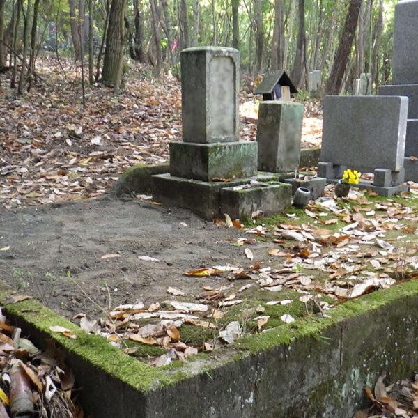 2017年11月施工 広島県広島市安芸区 S様 10寸3重台+巻石 墓じまい